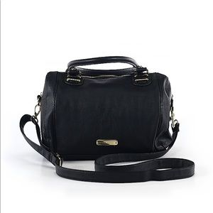 Black Steve Madden satchel bag with gold hardware